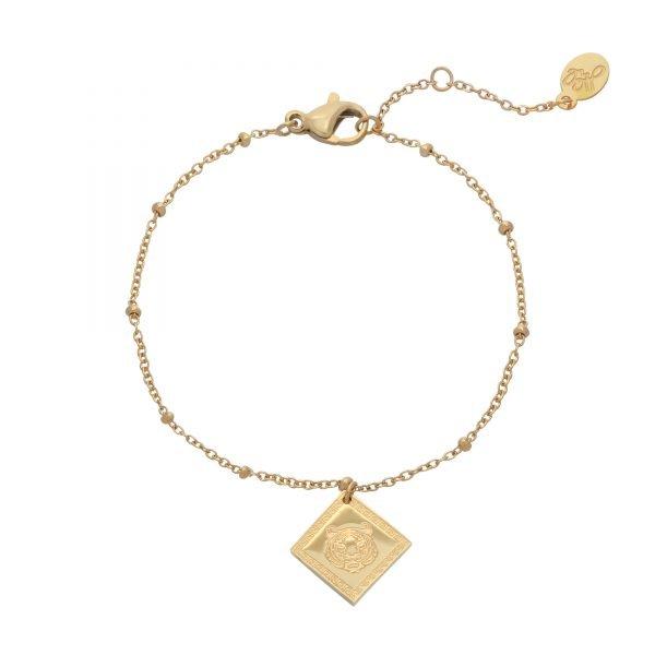 Armband Fierce Tiger Goud gouden dames armbanden bracelets fashion rvs sieraden kopen