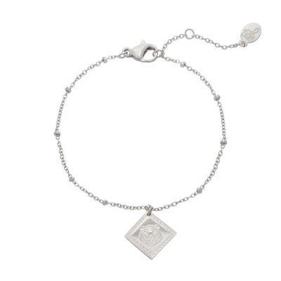 Armband Fierce Tiger zilver zilveren dames armbanden bracelets bedel tijger fashion rvs sieraden kopen