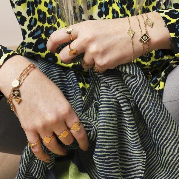 Armband Leopard Spots Goud gouden dames armbanden bracelets diamandvorige bedel fashion rvs sieraden kopen