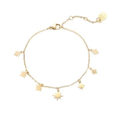 Armband Starry Sky goud gouden dames kettingen sterren bedels fashion rvs
