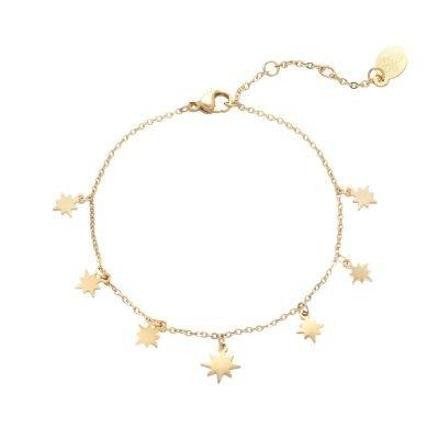 Armband Starry Sky goud gouden dames kettingen sterren bedels fashion rvs