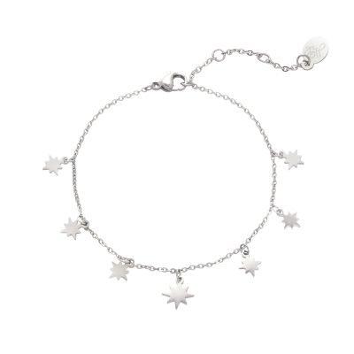 Armband Starry Sky zilver zilveren dames kettingen sterren bedels fashion rvs