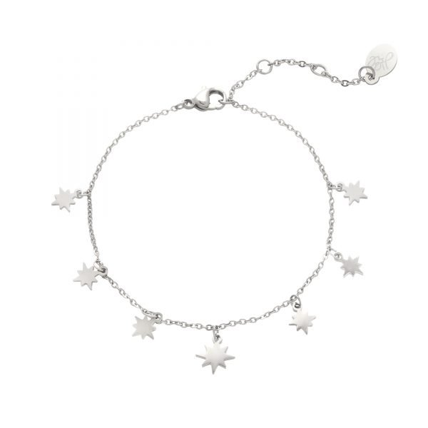Armband Starry Sky zilver zilveren dames kettingen sterren bedels fashion rvs