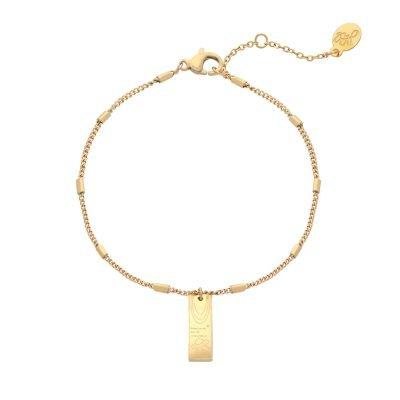 Armband Space Moon goud gouden dames armbanden bracelets fashion rvs sieraden tekst bedel kopen