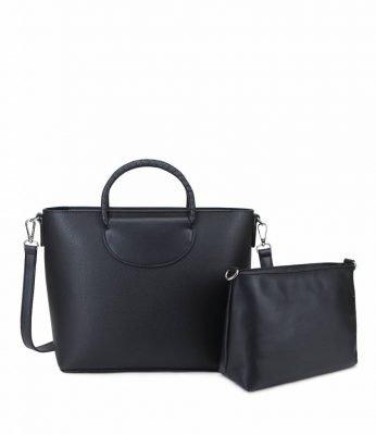 Bag in Bag Dylan zwart zwarte dames handtassen rond handvat giulliano tassen kopen binnentas etui