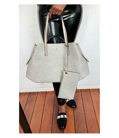 Bag-in-Bag-Shopper-Misty grijs grijze-dames-tassen-met-binnentas-en-etui-giuliano-tassen-online-kopen-bestellen-nu