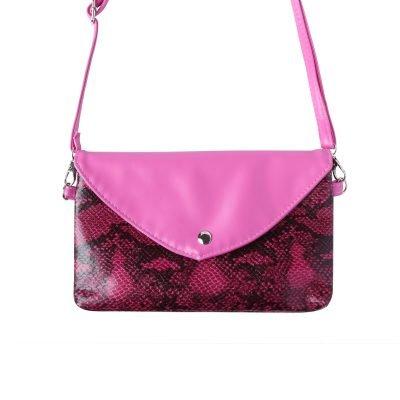 Festival Tasje Snake fuchsia roze pink slangenprint tasjes schoudertassen tassen tasjes online yehwang kopen