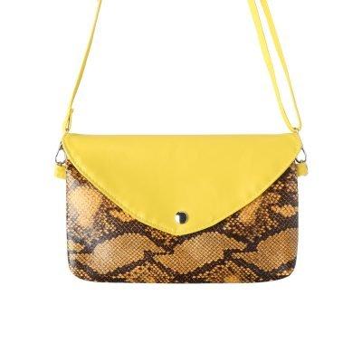 Festival Tasje Snake geel gele slangenprint tasjes schoudertassen tassen tasjes online yehwang kopen