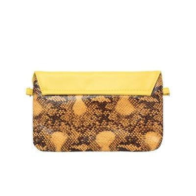 Festival Tasje Snake geel gele slangenprint tasjes schoudertassen tassen tasjes online yehwang kopen achterkant