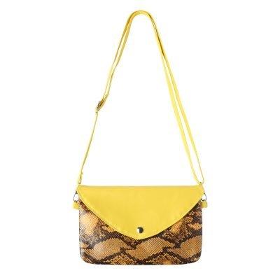 Festival Tasje Snake geel gele slangenprint tasjes schoudertassen tassen tasjes online yehwang kopen goedkope