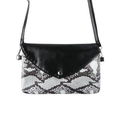 Festival Tasje Snake zwart zwarte slangenprint tasjes schoudertassen tassen tasjes online yehwang kopen