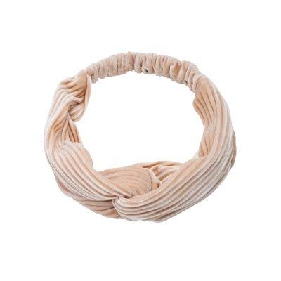 Haarband Velvet Ribbels creme nude beige haarbanden mint haaraccessoires headbands kopen