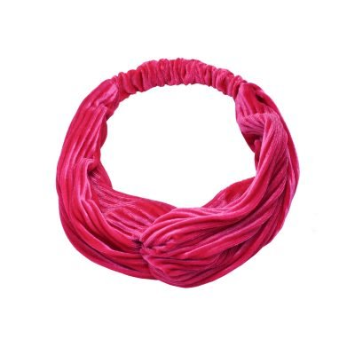 Haarband Velvet Ribbels fuchsia pink dames haarbanden mint haaraccessoires headbands kopen