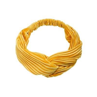 Haarband Velvet Ribbels geel gele haarbanden mint haaraccessoires headbands kopen