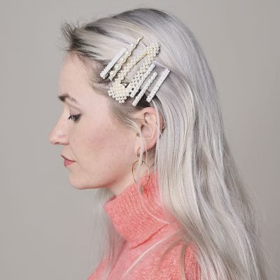 Haarclip Lovely Pearls wit witte pare haar clips dames grote haaraccessoires musthave kopen glamour