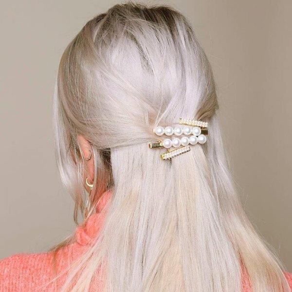 Haarclip Lovely Pearls wit witte parels haar clips dames grote haaraccessoires musthave kopen