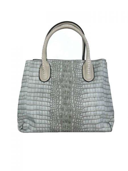 9633a11cfc6 Handtas Croco Belle grijs grijze handtassen kroko print dames tassen  giulliano kopen bestellen