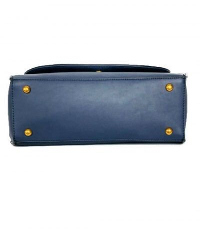 Handtas-Retro-Snake-blauw blauwe-dames-handtassen-tassen-schouderband-kunstleder-slangenprint-detail- onder
