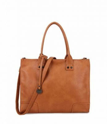 Handtas Tough bruin bruine tassen dames kunstleder giulliano tas stoere tassen kopen kantoor