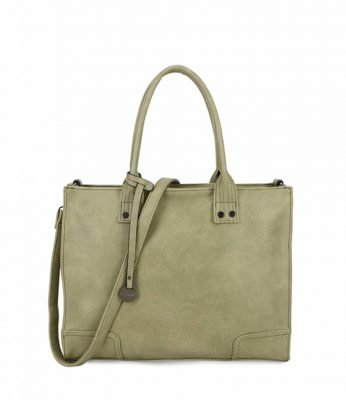 Handtas Tough groen groene tassen dames kunstleder giulliano tas stoere tassen kopen kantoor