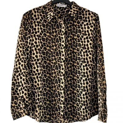 Hemd My Panter Yellow Bruin beige blouse hemden panterprint leopard kopen Senes v hals blouses