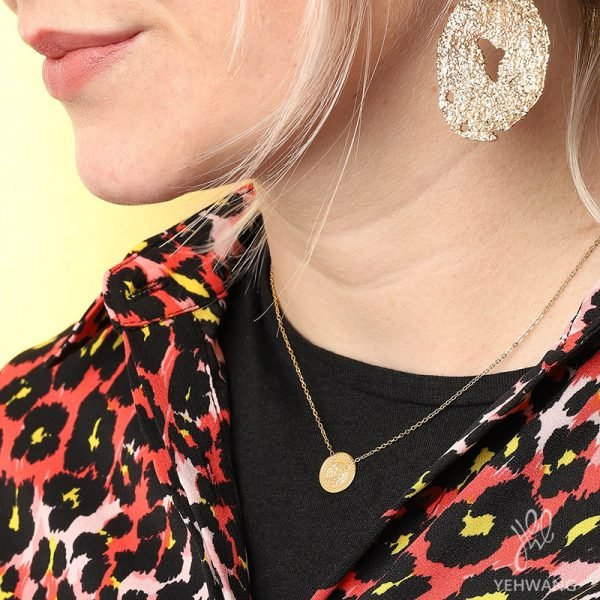 Ketting Fierce Tiger Goud gouden dames Kettingen tijger bedel necklage fashion rvs sieraden kopen details