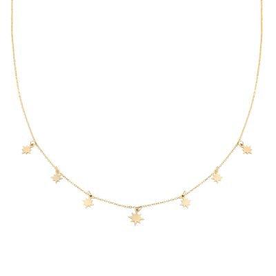 Ketting Starry Sky goud gouden dames kettingen sterren bedels fashion rv