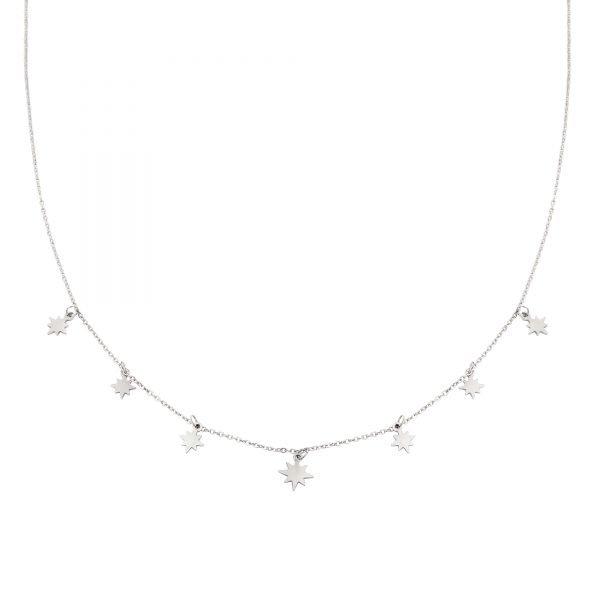 Ketting Starry Sky zilver zilveren dames kettingen sterren bedels fashion rv