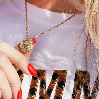Ketting True Love goud gouden kettingen hart bedel dames kopen bestellen