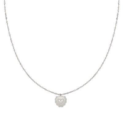 Ketting True Love zilver zilveren kettingen hart bedel dames kopen bestellen rvs