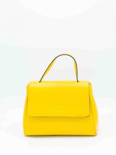 Leren-Handtas-Lena geel gele-tassen-giuliano-dames-luxe-kantoortassen-fashionbags-kopen-