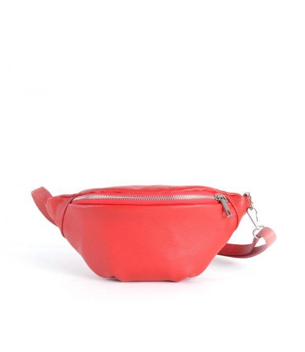 Leren-Heuptas-Simple-rood rode fannypack