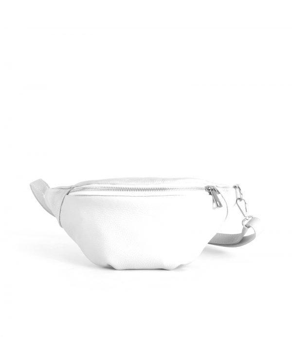 Leren-Heuptas-Simple-wit witte fannypack