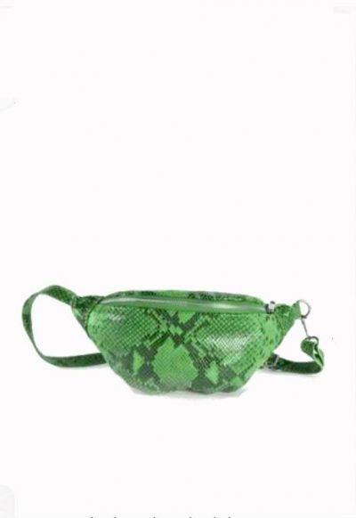 Leren Heuptas Snakes groen groene zwarte fannypack beltbag riemtassen leder leer heuptassen kopen trendy - kopie
