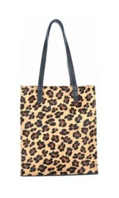 Leren Shopper Dierenvacht Leopard leder tassen panter leopardprint guiliano tassen kopen luxe bestellen