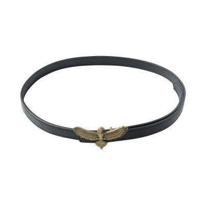 Riem Mighty Eagle zwart zwarte dames riemen adelaar vogel gesp stoere trendy riemen belts kopen