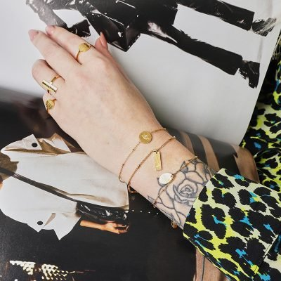 Ring Space Moon Goud gouden dames open ringen tekst verstelbare fashion vierkante rvs ringen kopen