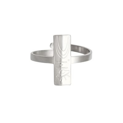 Ring Space Moon zilver zilveren dames open ringen tekst verstelbare fashion vierkante rvs ringen kopen