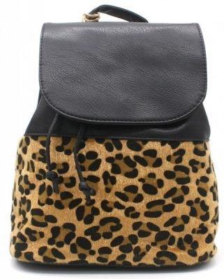 Rugzak My Leopard zwart zwarte leopard print rugtassen rugzakken online dames kopen backpack