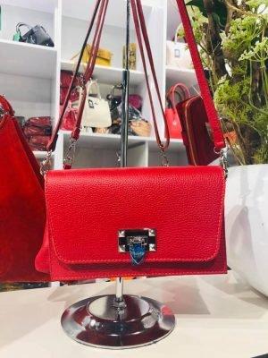 Schouder-Clutch-Tas-Berry-rood rode-schoudertassen-clutches-zilver-slot-kopen-giuliano-leder