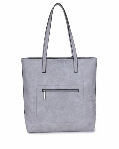 Shopper-Misty-grijs grijze shoppers-dames-tassen-giliano-tas-kunstleder-etui-kopen-fashion-bags
