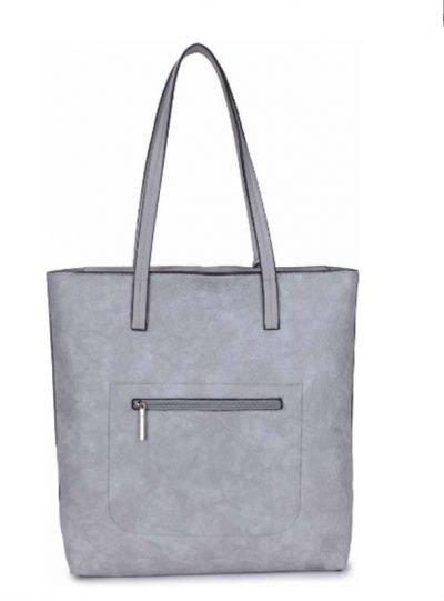 Shopper-Misty-grijs grijze shoppers-dames-tassen-giliano-tas-kunstleder-etui-kopen-fashion-bags achterkant