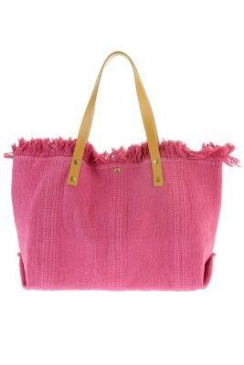 Shopper Sunshine Roze fuchsia shoppers strandtassen katoen grote tassen kopen