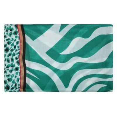 Sjaal Safari Dreams groen wit witte dames sjaals kleurrijke print kopen sjaals sjaaltjes detail