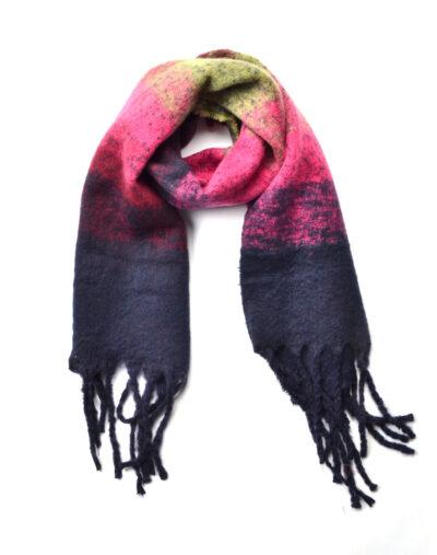 Sjaal Warm Winter blauw blauwe roze warme wollen winter sjaals omslagdoeken lange trendy sjaals kopen bestellen
