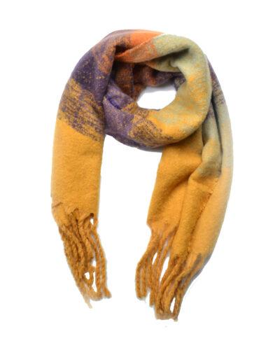 Sjaal Warm Winter geel gele warme wollen winter sjaals omslagdoeken lange trendy sjaals kopen bestellen