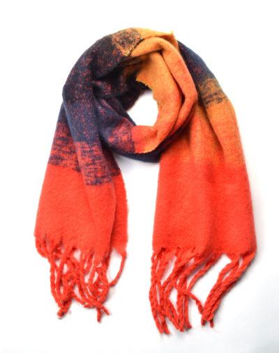 Sjaal Warm Winter oranje blauwe warme wollen winter sjaals omslagdoeken lange trendy sjaals kopen bestellen