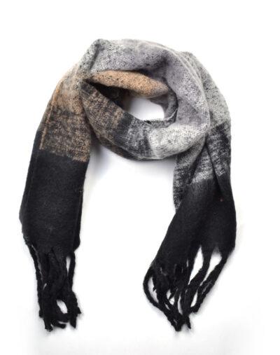 Sjaal Warm Winter zwart zwarte grijze warme wollen winter sjaals omslagdoeken lange trendy sjaals kopen bestellen