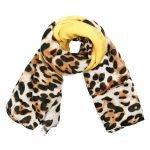 Sjaal Wild leopard geel gele leopard panterprint sjaals sjaaltjes online kopen dames accessoires