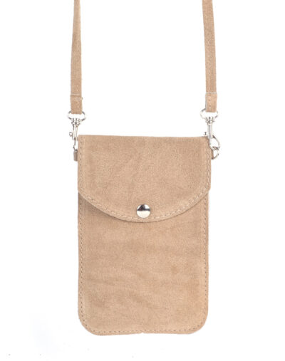Suede Telefoontasje Simple beige kleine schoudertasjes voor mobiel trendy leren tassen kopen